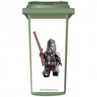 Lego Chewbacca Wheelie Bin Sticker Panel
