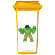 Lego Green Hulk Wheelie Bin Sticker Panel
