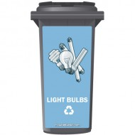 Light Bulbs Recycling Wheelie Bin Sticker Panel