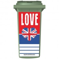 Love Great Britain Wheelie Bin Sticker Panel