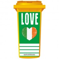 Love Ireland Heart Wheelie Bin Sticker Panel