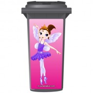 Lovely Fairy Ballerina Wheelie Bin Sticker Panel