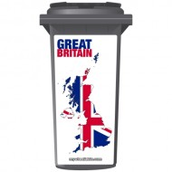 Map Of Great Britain Wheelie Bin Sticker Panel