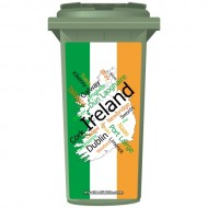 Map Of Ireland In Words Wheelie Bin Sticker Panel
