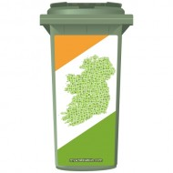 Map Of Ireland Wheelie Bin Sticker Panel