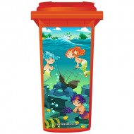 Mermaids In The Sea Wheelie Bin Sticker Panel