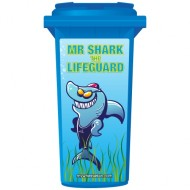 Mr Shark The Lifeguard Wheelie Bin Sticker Panel