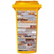 Natural Slate Wall Wheelie Bin Sticker Panel
