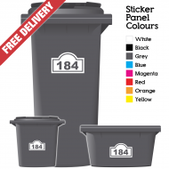 Wheelie Bin Sticker Numbers Arch Style (Pack Of 3)