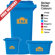 Wheelie Bin Sticker Numbers Arch Style (Pack Of 6)