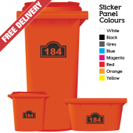 Wheelie Bin Sticker Numbers Arch Style (Pack Of 12)