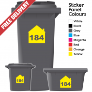 Wheelie Bin Sticker Numbers House Style (Pack Of 6)