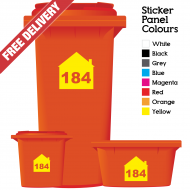 Wheelie Bin Sticker Numbers House Style (Pack Of 3)
