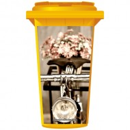 Old Fashioned Bicycle Wheelie Bin Sticker Panel