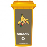 Organic Recycling Wheelie Bin Sticker Panel