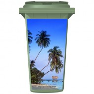 Palms On The Beach Wheelie Bin Sticker Panel