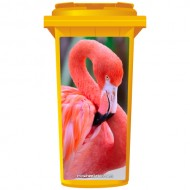 Pink Flamingo Wheelie Bin Sticker Panel