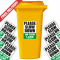 Please Slow Down In Our Lane Speed Reduction Wheelie Bin Stickers