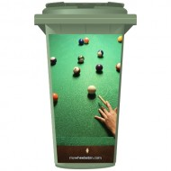 Pool Table Wheelie Bin Sticker Panel