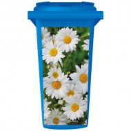 Pretty Daisy Flowers Wheelie Bin Sticker Panel