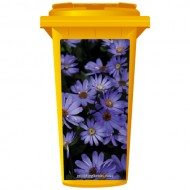 Purple Daisies Wheelie Bin Sticker Panel