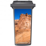 Rocky Cliff In The Dessert Wheelie Bin Sticker Panel