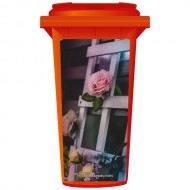 Roses On A Trellis Wheelie Bin Sticker Panel