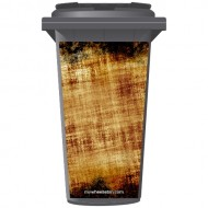Rust Look Wheelie Bin Sticker Panel