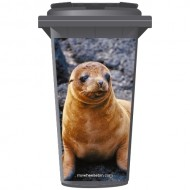 Seal On The Rocks Wheelie Bin Sticker Panel