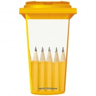 Sharp Yellow Pencils Wheelie Bin Sticker Panel