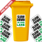 Slow Down In Our Lane Speed Reduction Wheelie Bin Stickers