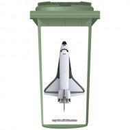 Space Shuttle Wheelie Bin Sticker Panel