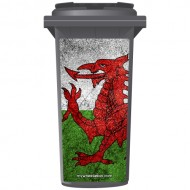 Sparkling Welsh Dragon Wheelie Bin Sticker Panel