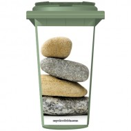 Stack Of Pebbles Wheelie Bin Sticker Panel