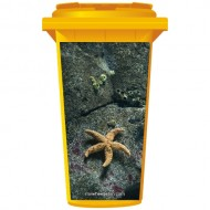 Star Fish On The Rocks Wheelie Bin Sticker Panel