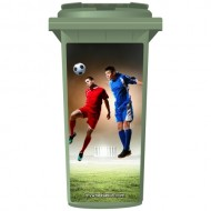 Star Football Strikers Wheelie Bin Sticker Panel