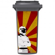Stig Gone Gung Ho Wheelie Bin Sticker Panel