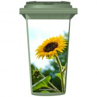 Sunflower In The Sky Wheelie Bin Sticker Panel