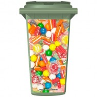 Sweets And Lollies Wheelie Bin Sticker Panel