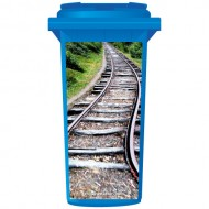 Train Tracks On A Hill Wheelie Bin Sticker Panel