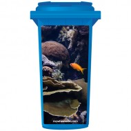 Tropical Fish With Coral Wheelie Bin Sticker Panel