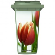 Tulips Wheelie Bin Sticker Panel