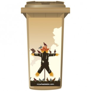 Useless Scarecrow Wheelie Bin Sticker Panel