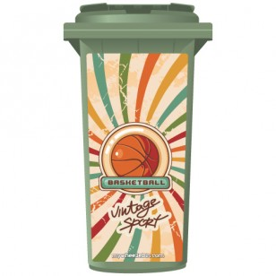 Vintage Basketball Wheelie Bin Sticker Panel
