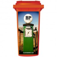 Vintage Green BP Petrol Pump Wheelie Bin Sticker Panel