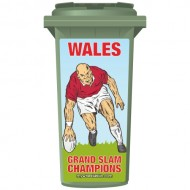 Wales Grand Slam Champions Wheelie Bin Sticker Panel