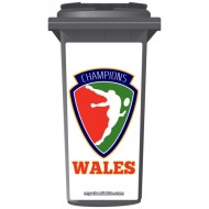 Wales Rugby Champions Shield Wheelie Bin Sticker Panel