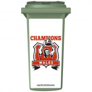 Wales Rugby Champions Wheelie Bin Sticker Panel