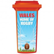 Wales The Home Of Rugby Wheelie Bin Sticker Panel