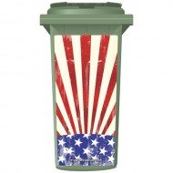 Warn American Style Flag Wheelie Bin Sticker Panel
